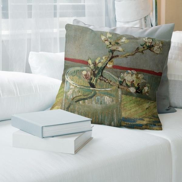 Porch & Den Vincent Van Gogh 'Blossoming Almond Branch in a Glass' Throw Pillow