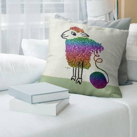 Porch & Den Raymond Savignac 'Vintage Wool Poster' Throw Pillow