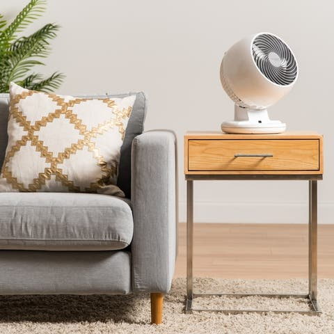 Woozoo C18T Remote Controlled Whole Room Oscillating Circulating Fan, White