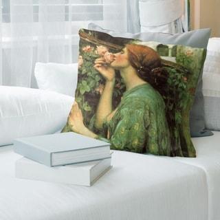 Porch & Den John William Waterhouse 'My Sweet Rose' Throw Pillow