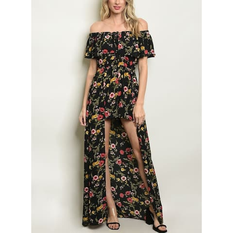 JED Women's Off-Shoulder Floral Dress Romper
