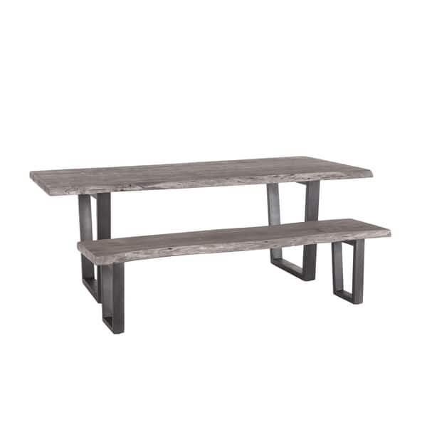 New Orleans 68 Inch Weathered Gray Dining Bench Overstock 28274832