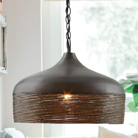 1-light Grey Iron Pendant
