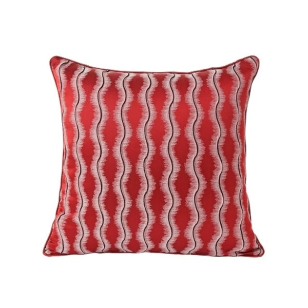 Jacquard Perpendicular Reflection Accent Pillow (18-in x 18-in)