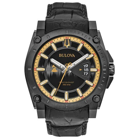 Bulova Men's Special Edition Grammy Precisionist Leather Strap Watch