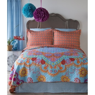 Bandana Boho Quilt Set, Queen 3-Piece