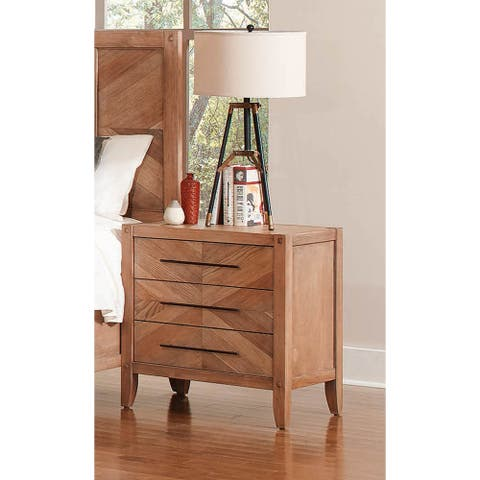 Sedona Solid Wood Construction 3-drawer Nightstand