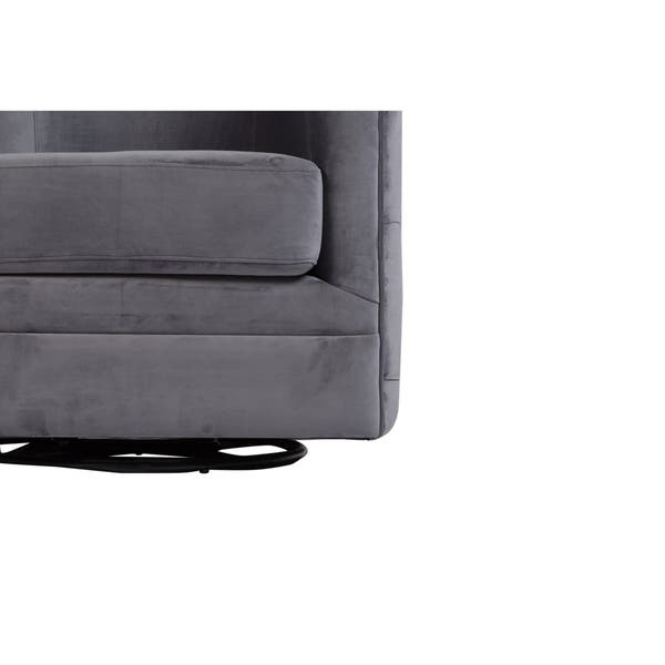 Excellent Shop Gabby Tufted Velvet Microfiber Swivel Chair Gray Pdpeps Interior Chair Design Pdpepsorg