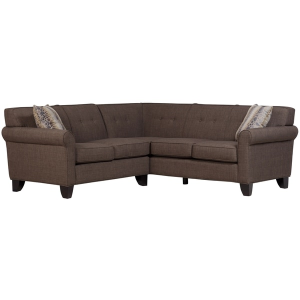 Duke Linen-Look 2 Piece Sectional, Heathered Brown
