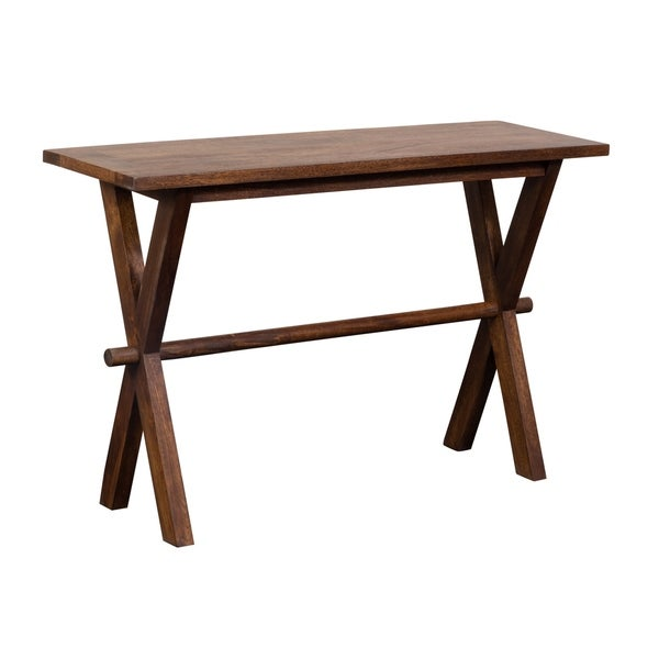 X-Table Chestnut Finish Console Table