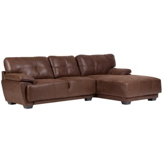 Sitswell Cooper Leather-Look 2 Piece Sectional
