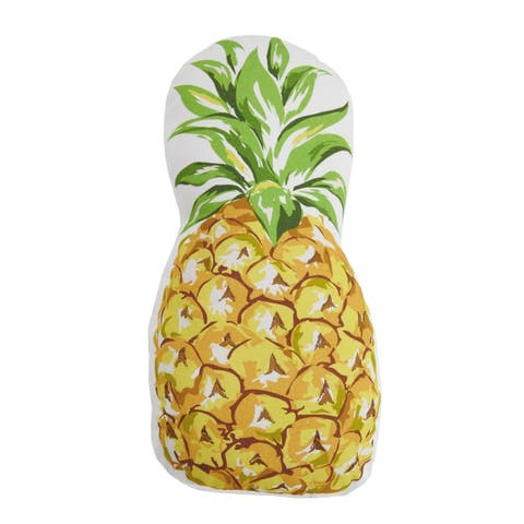 Pineapple Shaped Printed Embroidered Pillow