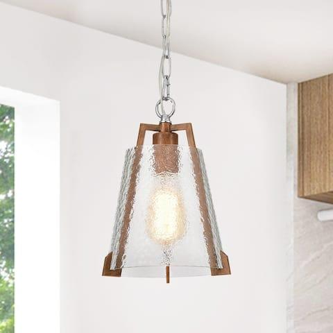 Osimo Light Brown/Chrome 1-light Pendant