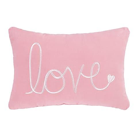 Pink Love Velvet Pillow