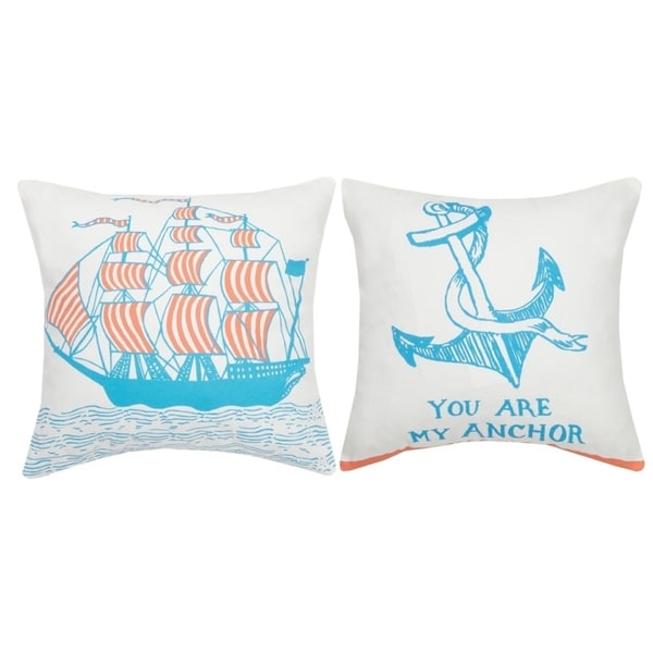 You are my Anchor Printed Pillow