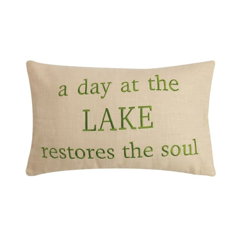 Lake Restores the Soul Embroidered Pillow