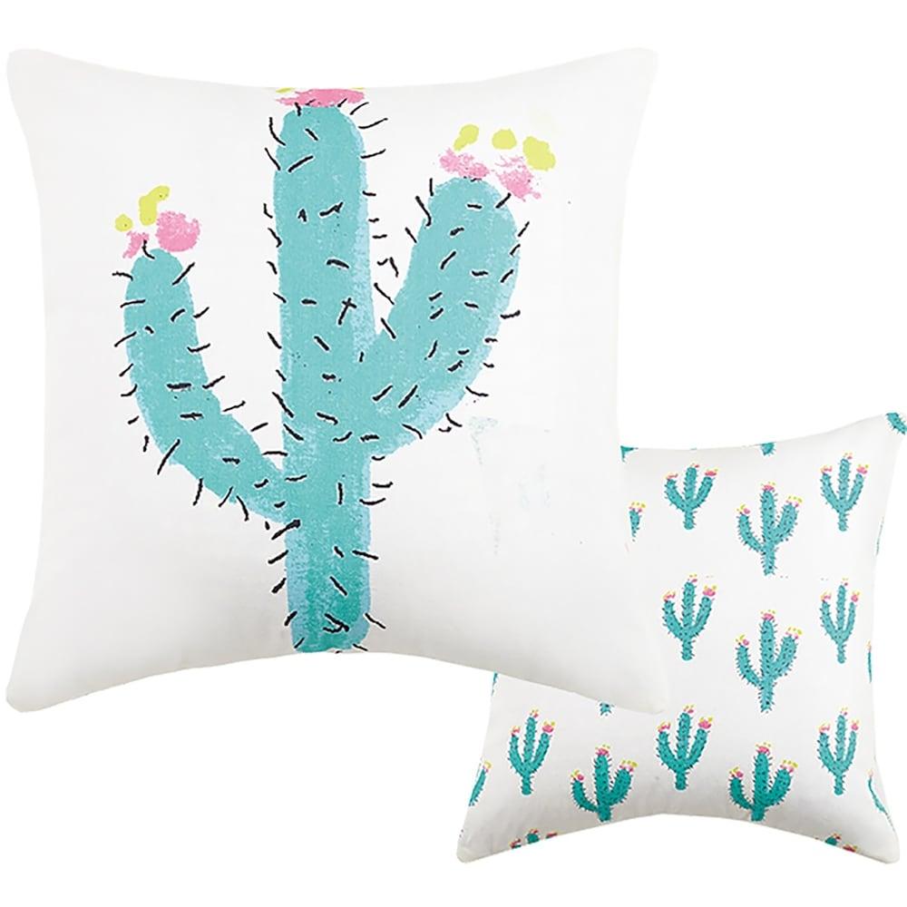Cacti Canvas Printed Pillow