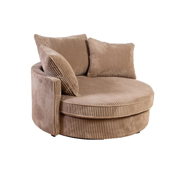 Wondrous Shop Big Chill Cuddler Microfiber Swivel Chair Tan Free Pdpeps Interior Chair Design Pdpepsorg