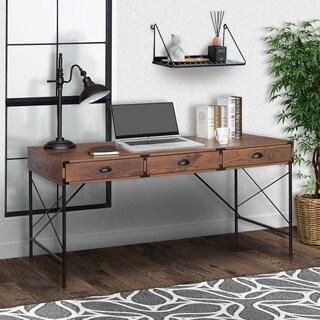 Brunei 59 in. Wide 3 Drawer Writing Desk