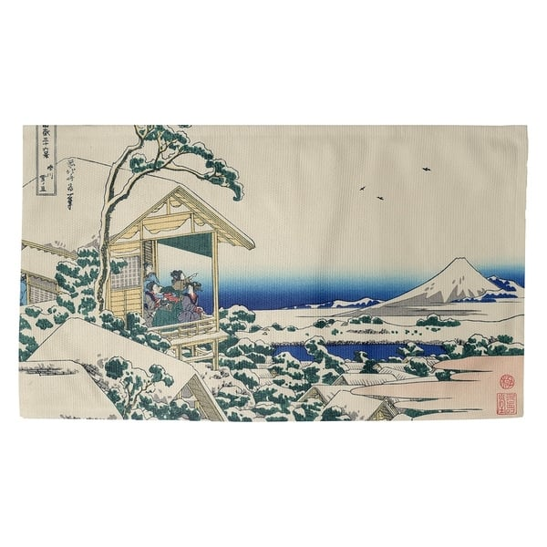 Porch Den Katsushika Hokusai Tea House At Koishikawa Dobby Rug Overstock 28279332