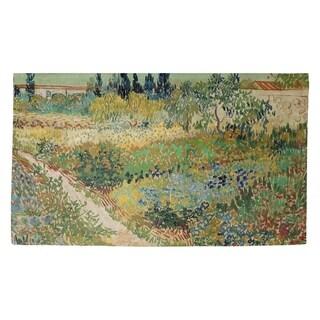Porch & Den Vincent Van Gogh 'Bluhender Garten mit Pfad' Dobby Rug