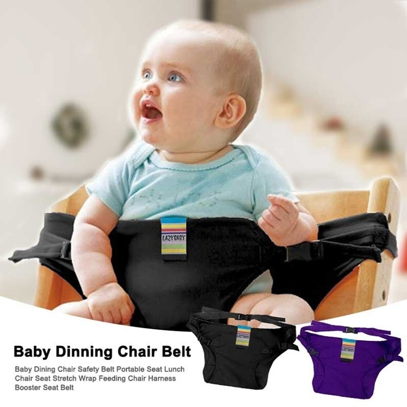 Baby Dining Chair Safety Belt Portable Seat Lunch Chair Seat Stretch Wrap Feeding Chair Harness Booster Seat Belt Black Purple Overstock 28279833
