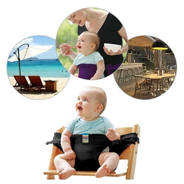 Baby Dining Chair Safety Belt Portable Seat Lunch Chair Seat Stretch Wrap Feeding Chair Harness Booster Seat Belt Black Purple On Sale Overstock 28279833