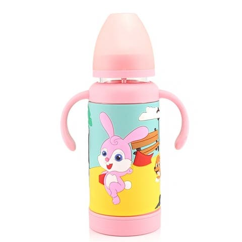260ml Natural Feeding Baby Bottle Infant Bottle Anti-acid Anti-corrosion Smooth Suck Double Holder Medical Grade