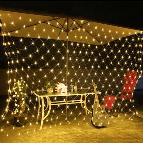 96 LED Net Grid String Light Decorate Garden Fairy Light Christmas Wedding Party Holiday Light US Plug