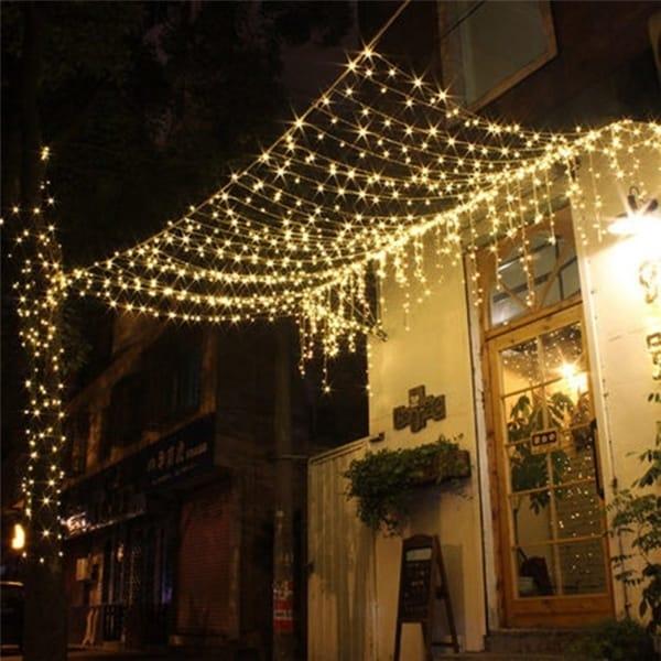 Led String Fairy Light Net Mesh Curtain