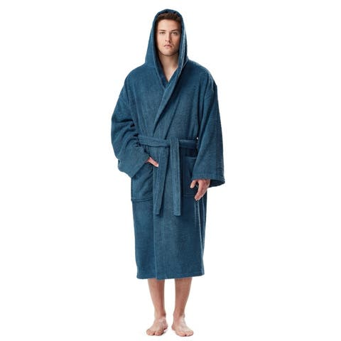 Men's Turkish Cotton Hooded Bathrobe