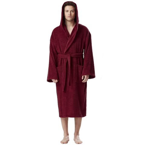 Men's Premium Turkish Cotton Hooded Bathrobe Absorbent and Soft Robe