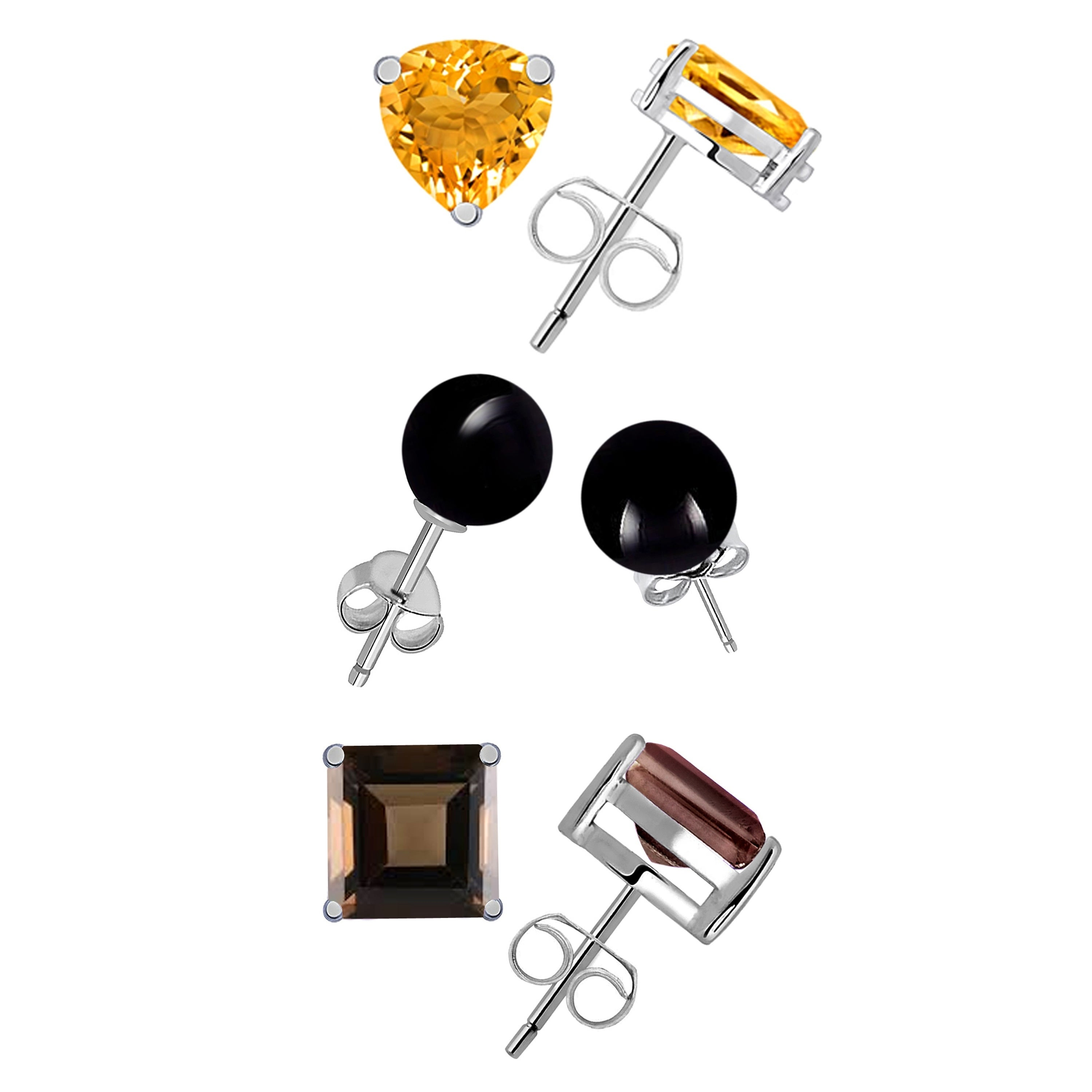 Black Onxy Gemstone Earring Citrine