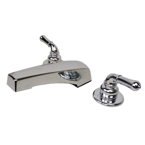 Two Handle Non-Metallic Adjustable Garden Tub Filler Faucet for Manufactured, Modular, and Mobile Home Bathroom