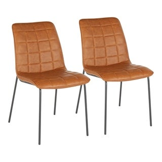 Link to Carbon Loft Healy Quad Tufted Faux Leather Industrial Chair (Set of 2) Similar Items in Dining Room & Bar Furniture