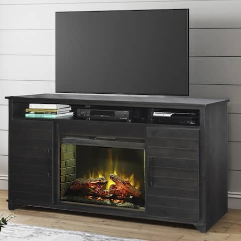 The Gray Barn Kandel Cove Java Electric Fireplace TV Stand for TVs up to 70 Inches
