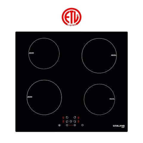 "Gasland Chef IH60BF 24"" Built-in Induction Cooker, Vitro Ceramic Surface Electric Cooktop, 4 Burners, ETL"