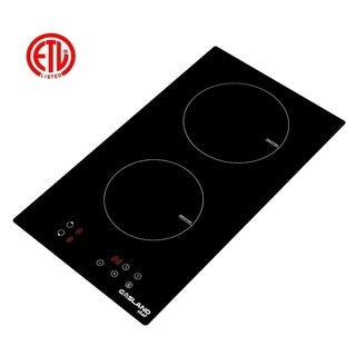 Gasland Chef IH30BF Built-in Induction Cooker,  12'' Vitro Ceramic Surface Electric Cooktop, 2 Burners, ETL