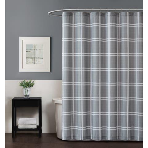 Truly Soft Leon Plaid Shower Curtain