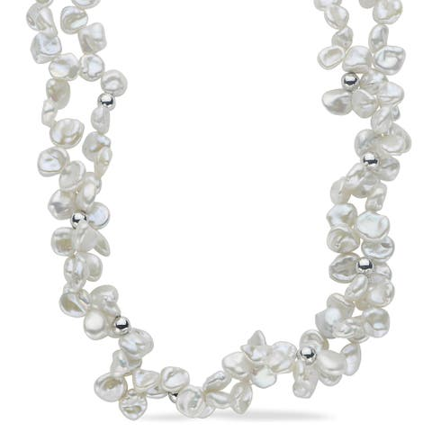 PearLustre by Imperial Keishi Pearl and Sterling Silver Bead Necklace