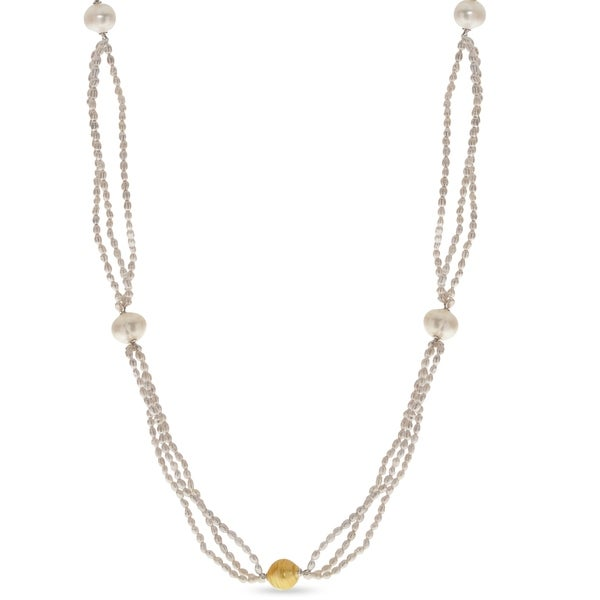 "PearLustre by Imperial 36"" Grey Freshwater Seed Pearl Necklace"