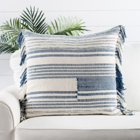 Nikki Chu by Jaipur Living Bonsai Stripes Throw Pillow 24X24 inch