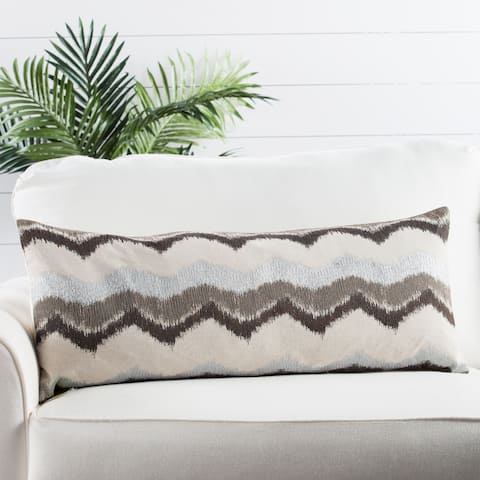 Nikki Chu by Jaipur Living Leamont Chevron Throw Pillow 14X33 inch