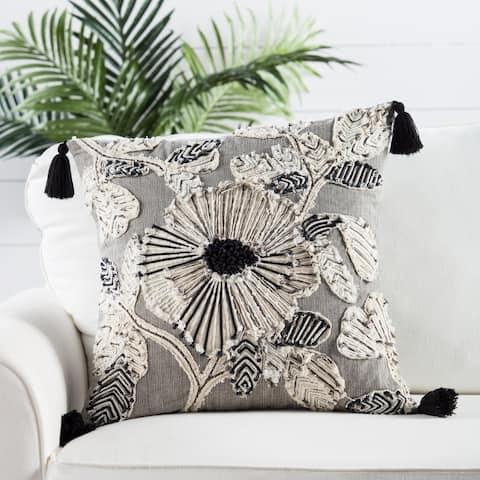 Nikki Chu by Jaipur Living Rosetti Floral Throw Pillow 20 inch