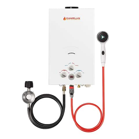 Camplux 10L 2.64 GPM Outdoor Portable Tankless Water Heater