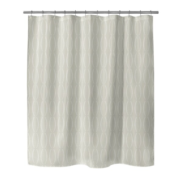 Shop Beads Tan Shower Curtain By Bg Riley Free Shipping Today