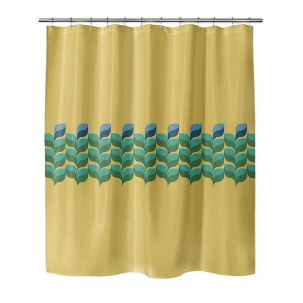 Porch Den Rancher Gold And Green Fl Shower Curtain