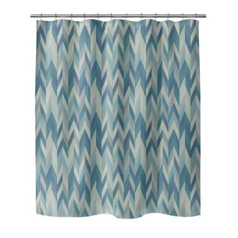 AARON BLUE Shower Curtain By BG Riley