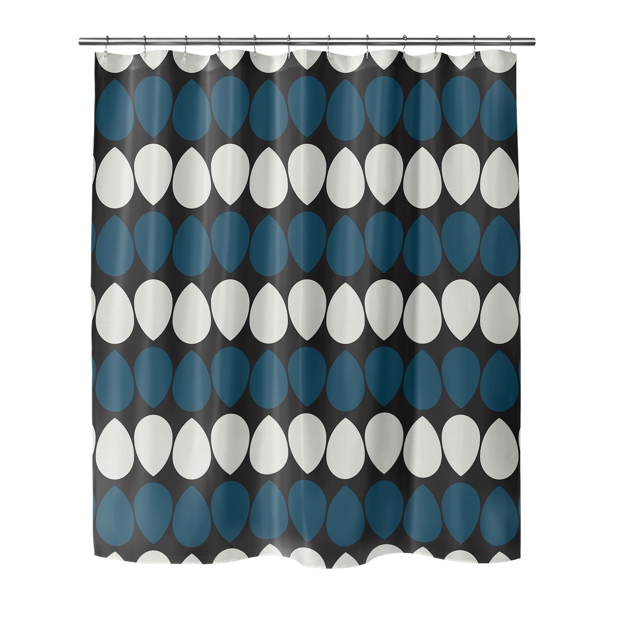 Shop Black Friday Deals On Wilma Dark Blue Shower Curtain By Kavka Designs On Sale Overstock 28284889