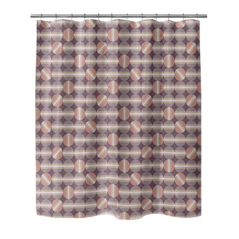HEMISPHERES PLUM Shower Curtain by Kavka Designs